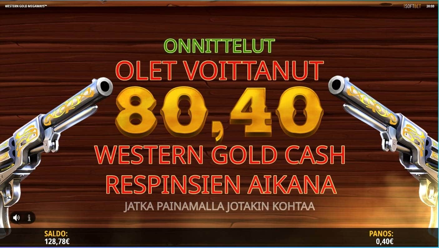 Western Gold Megaways Casino win picture by TllKERl 28.3.2021 80.40e 201X