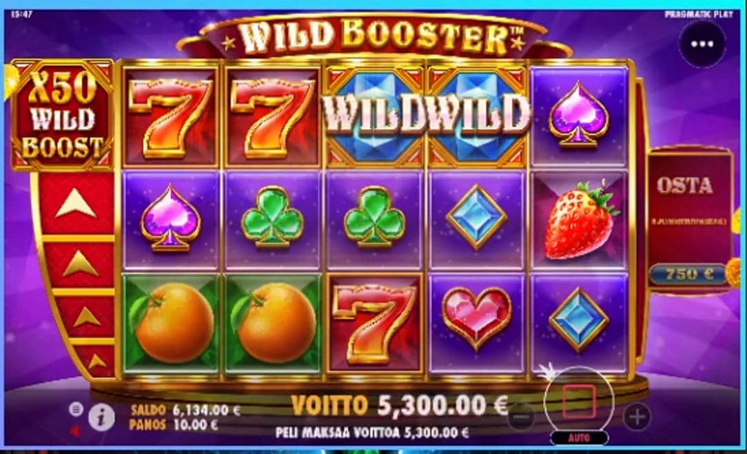Wild Booster Casino win picture by Jarttu84 8.4.2021 5300e 530X