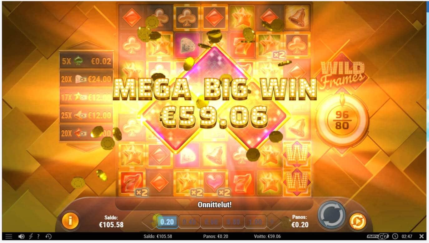 Wild Frames Casino win picture by Banhamm 12.4.2021 59.06e 295X