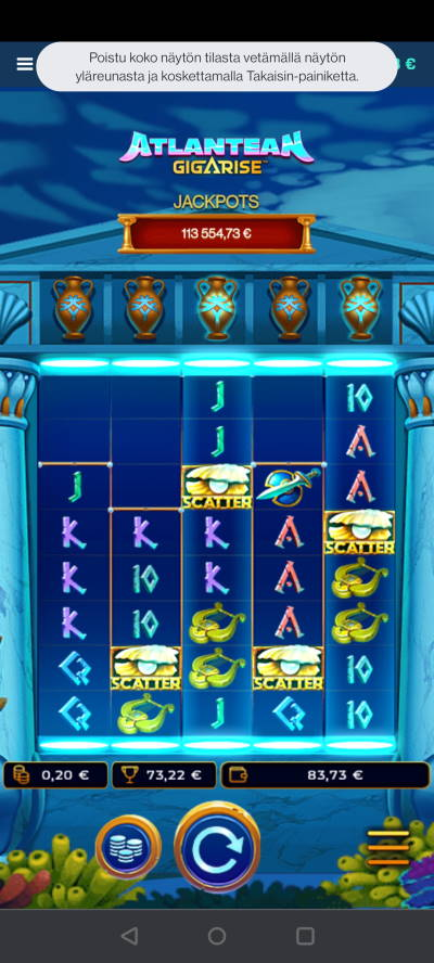 Atlantean Gigarise Casino win picture by HuuZ 23.5.2021 73.22e 366X