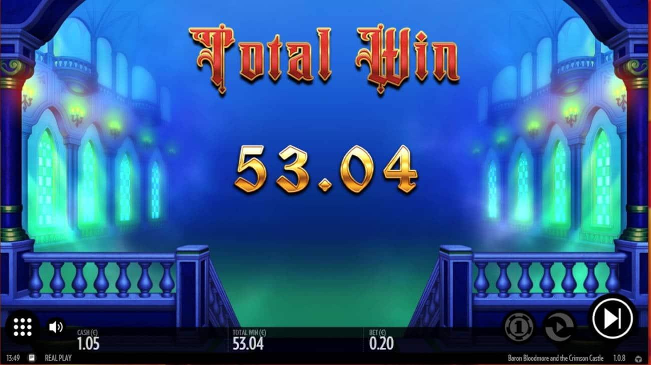 Baron Bloodmore and Crimson Castle Casino win picture by jube 23.5.2021 53.04e 265X