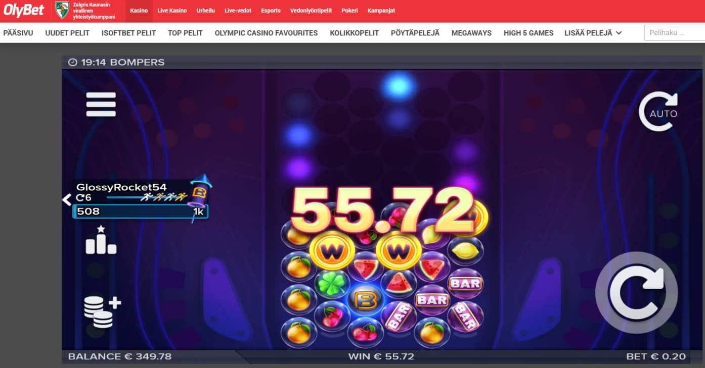 Bompers Casino win picture by Mrmork666 28.4.2021 55.72e 279X Olybet