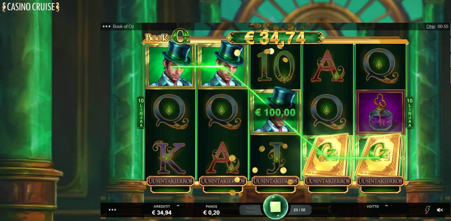 Book of Oz Casino win picture by Banhamm 14.5.2021 100e 500X Casino Cruise