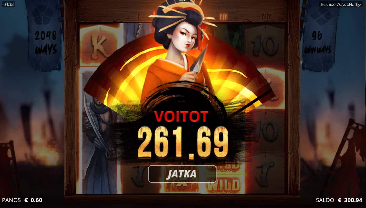 Bushido Casino win picture by Kari Grandi 28.4.2021 261.69e 436X