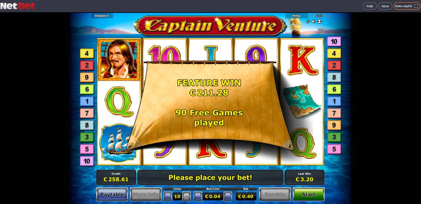 Captain Venture Casino win picture by Banhamm 27.4.2021 211.28e 528X NetBet