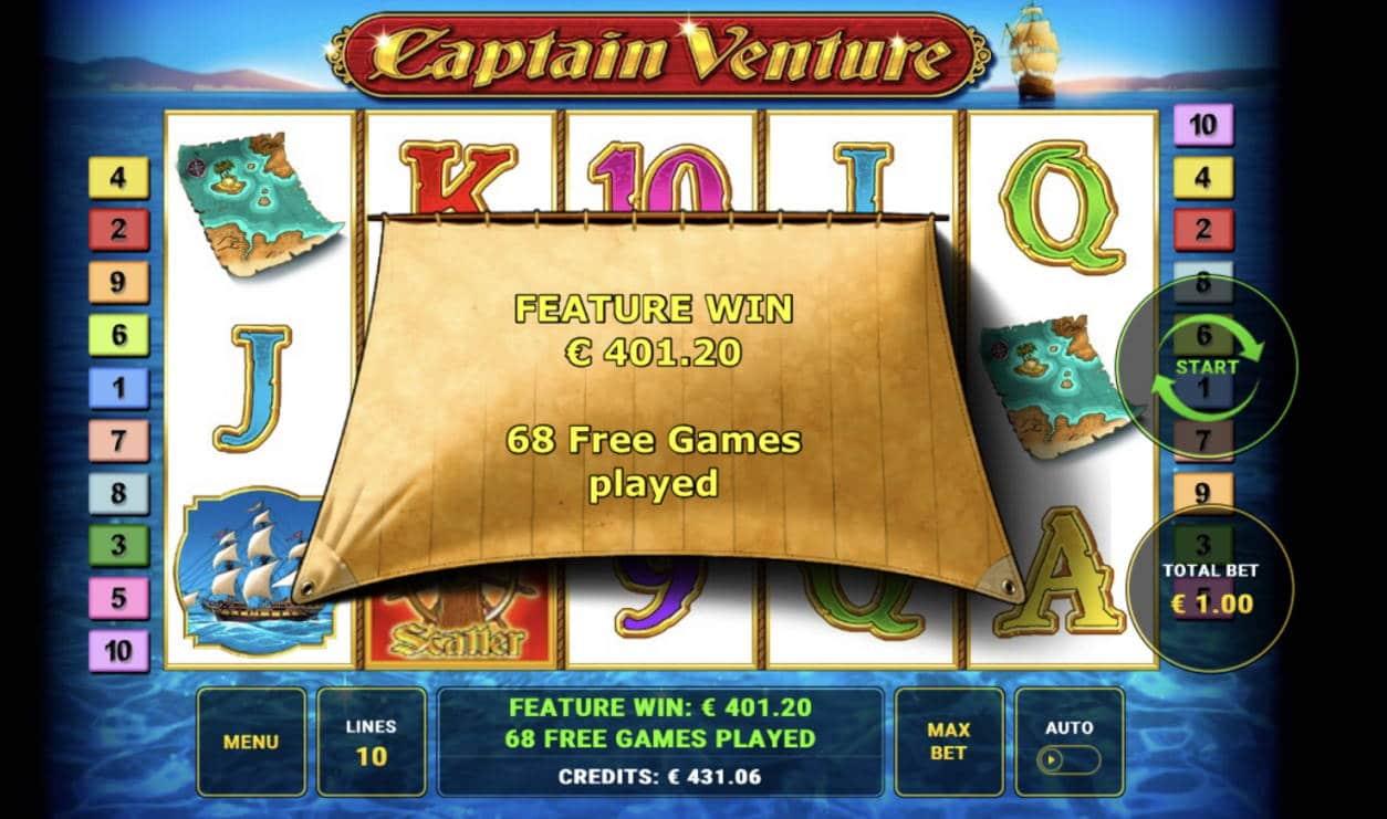 Captain Venture Casino win picture by Sonefinland 7.5.2021 401.20e 401X