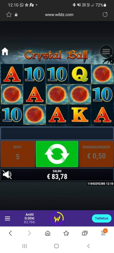 Crystal Ball Casino win picture by dj_niemi 1.5.2021 250e 500X Wildz
