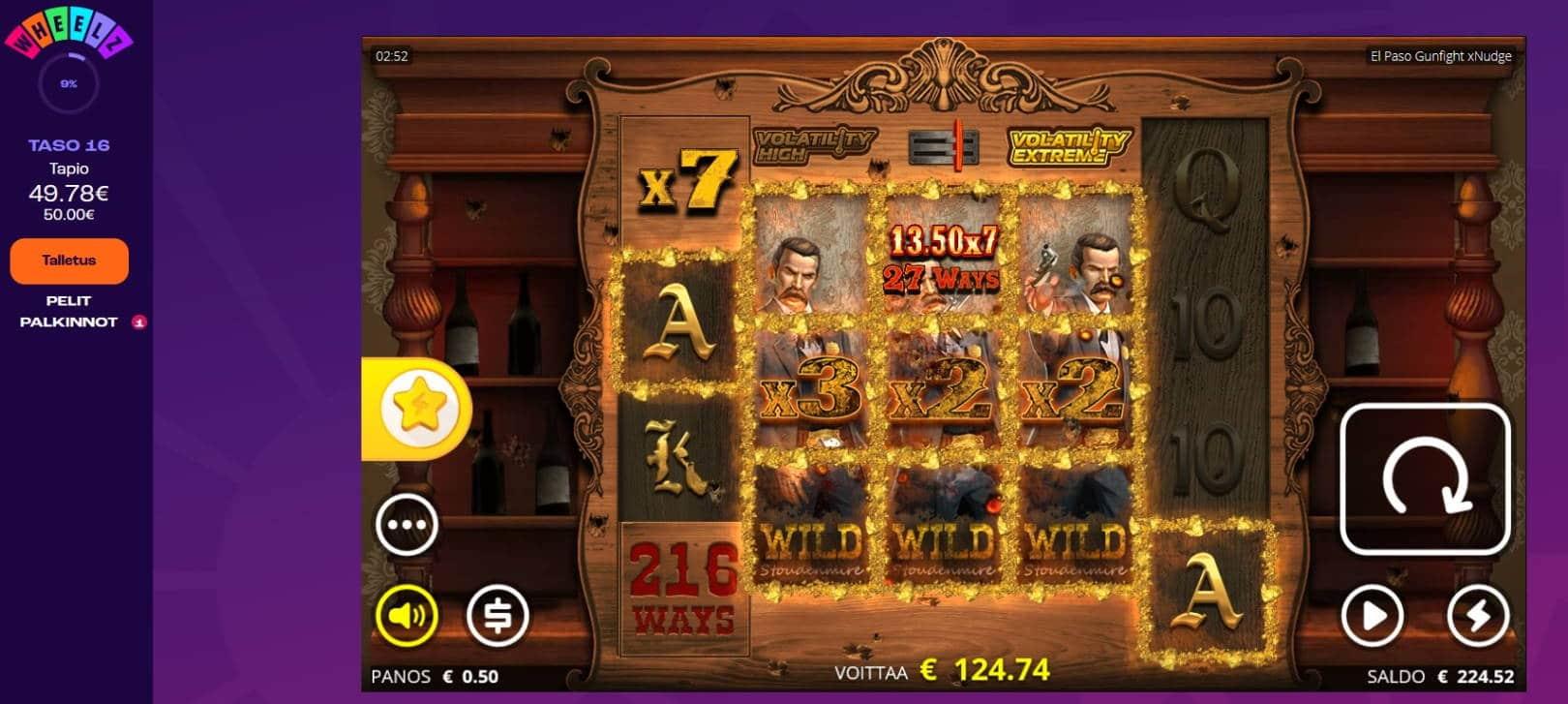 El Paso Gunfight Casino win picture by Mrmork666 28.4.2021 124.74e 249X Wheelz