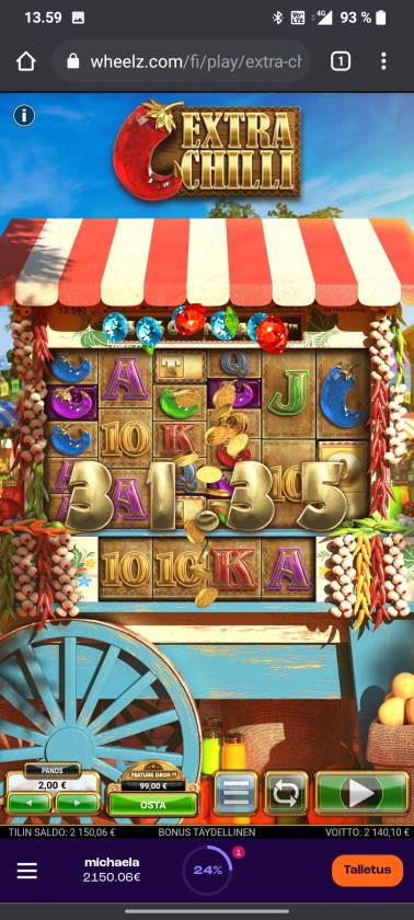 Extra Chilli Casino win picture by tiikerililja87 18.5.2021 2140.10e 1070X Wheelz