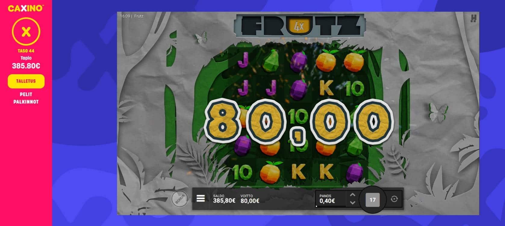 Frutz Casino win picture by Mrmork666 28.4.2021 80e 200X Caxino