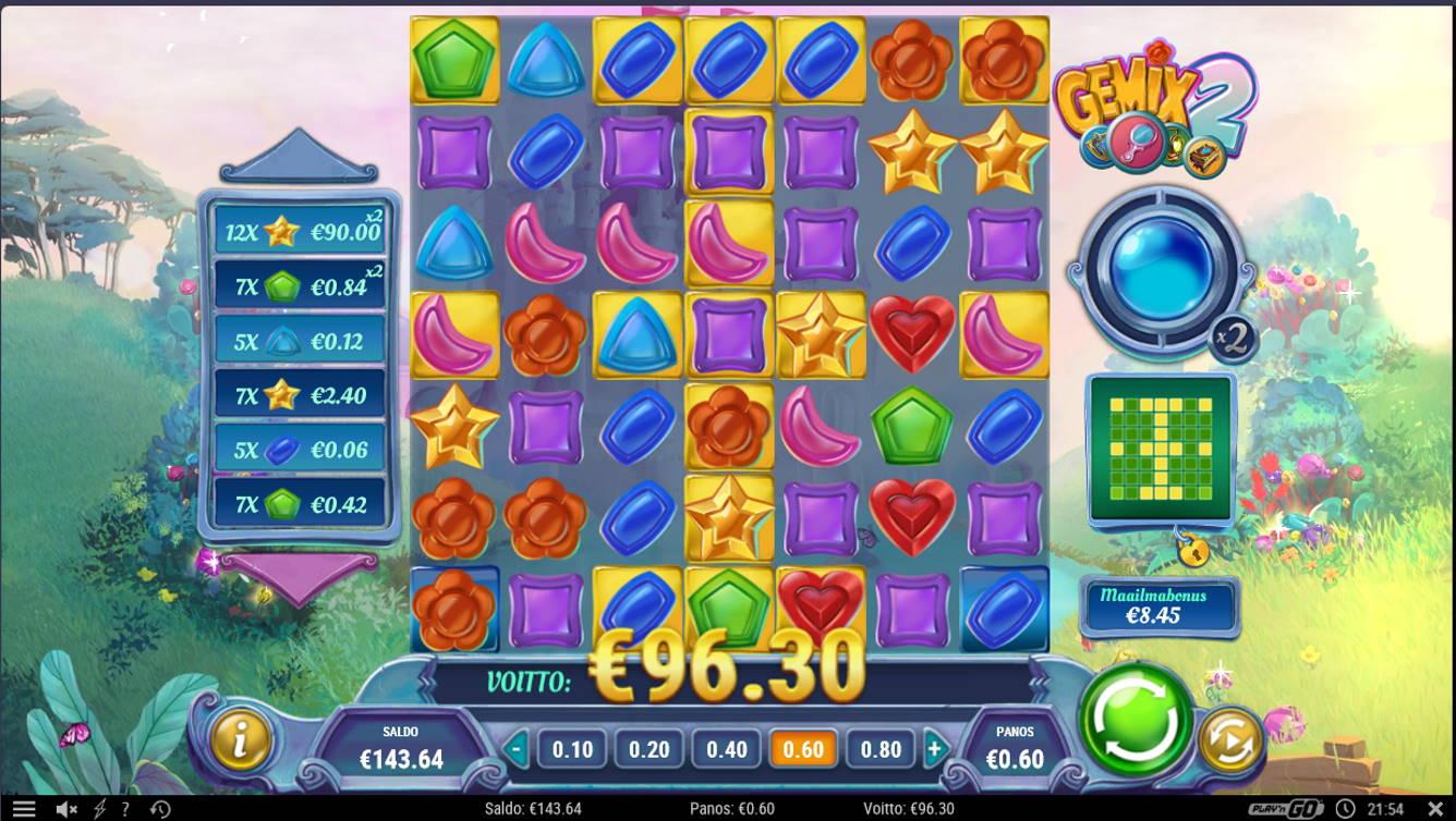 Gemix 2 Casino win picture by Kari Grandi 3.5.2021 96.30e 161X