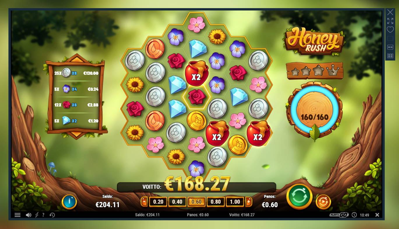 Honey Rush Casino win picture by Banhamm 9.5.2021 168.27e 280X
