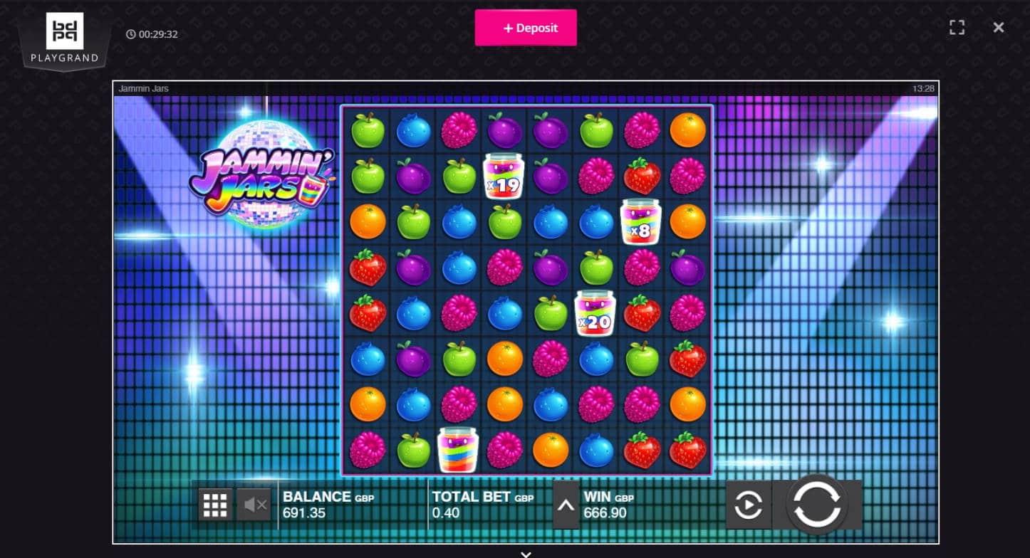 Jammin Jars Casino win picture by Macca 29.4.2021 666.90e 1667X