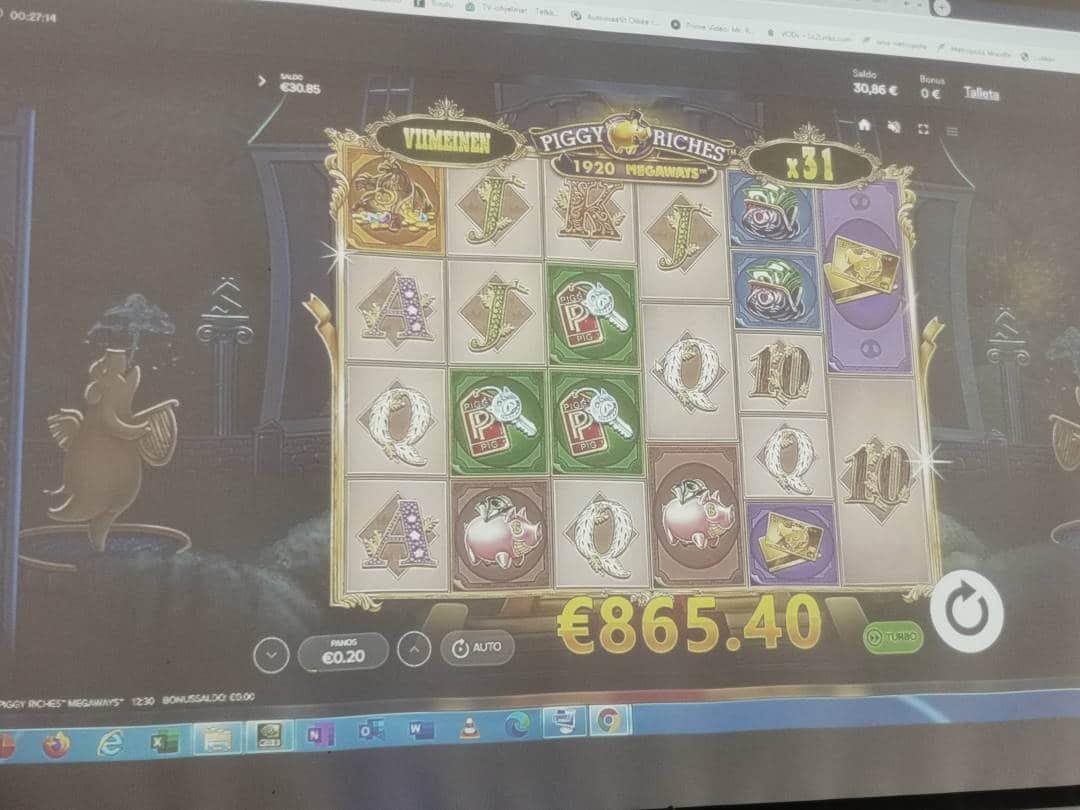 Piggy Riches Megaways Casino win picture by Artsi841 9.5.2021 865.40e 4327X