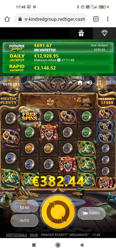 Pirates Plenty Megaways Casino win picture by Jaapero 4.5.2021 382.44e 637X