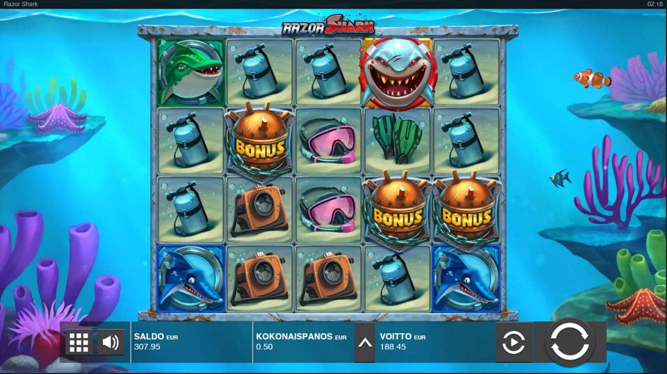 Razor Shark Casino win picture by Kari Grandi 28.4.2021 188.45e 377X
