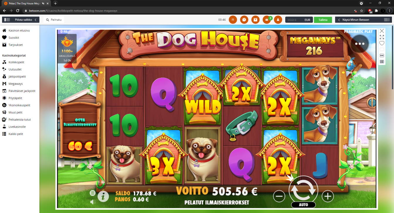 The Dog house Megaways Casino win picture by FartyPantZ 5.5.2021 505.56e 843X Betsson