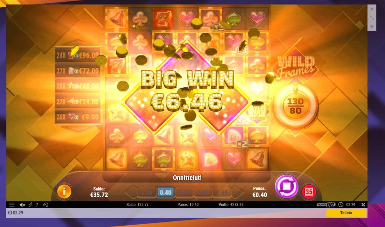 Wild Frames Casino win picture by Banhamm 30.4.2021 273.86e 685X