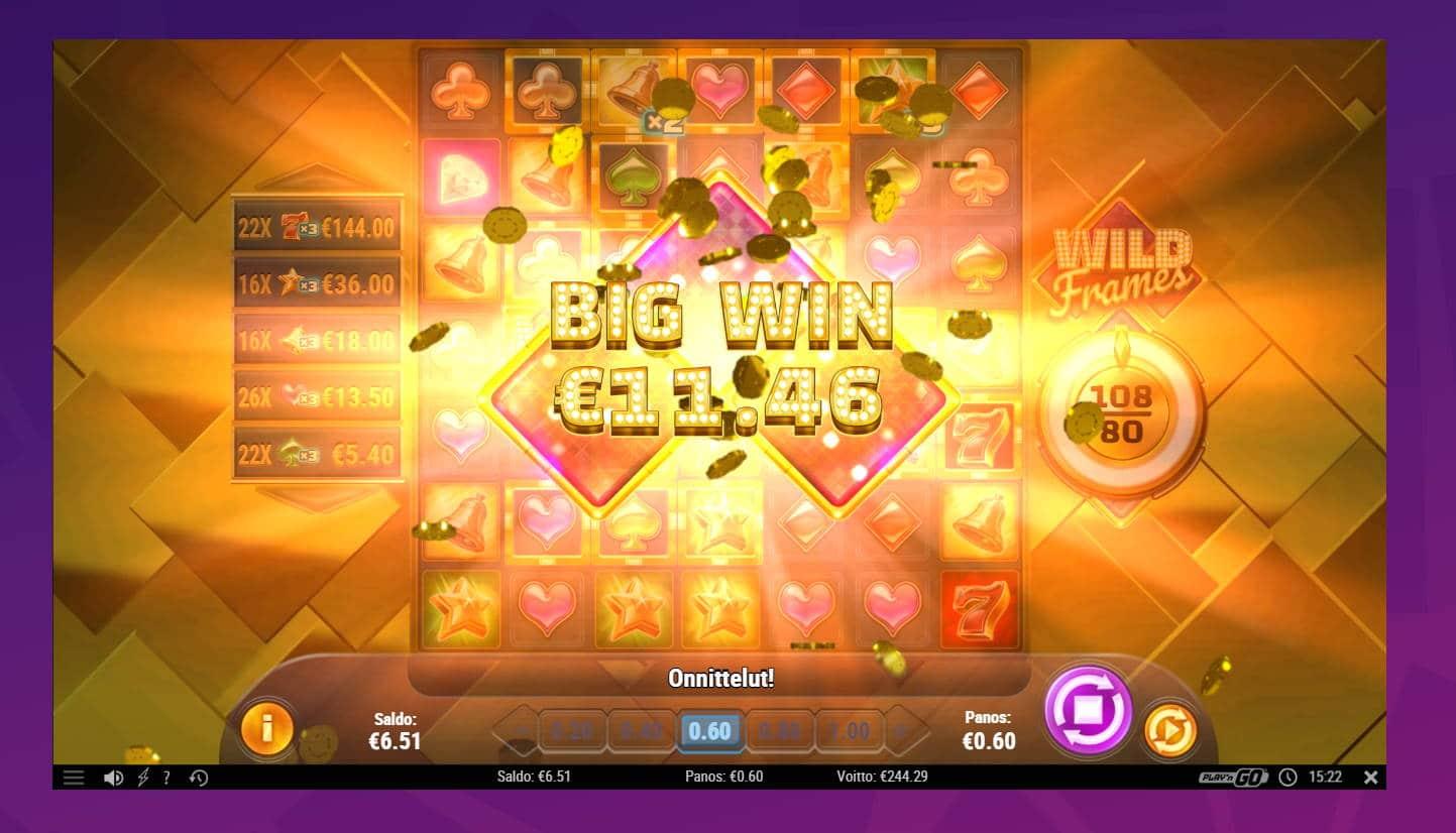 Wild Frames Casino win picture by Banhamm 7.5.2021 244.29e 407X