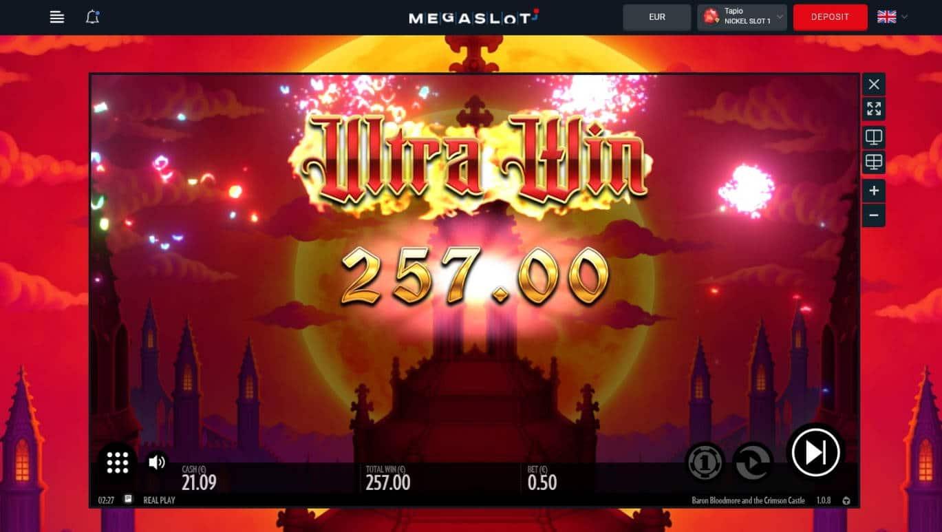 Baron Bloodmore and Crimson Castle Casino win picture by Mrmork666 31.5.2021 257e 514X Mega Slot