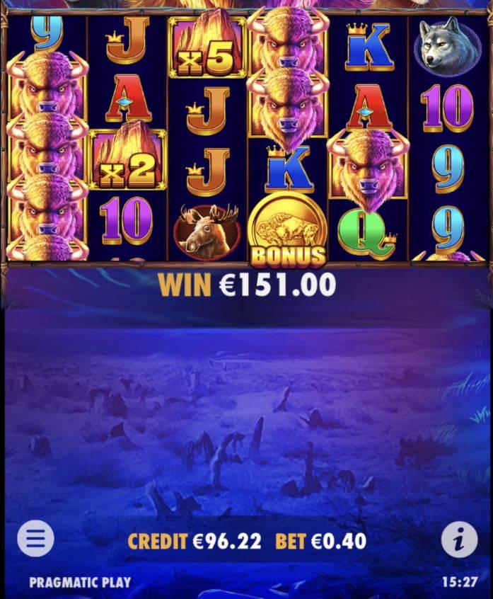 Buffalo King Megaways Casino win picture by leif991 4.6.2021 151e 378X