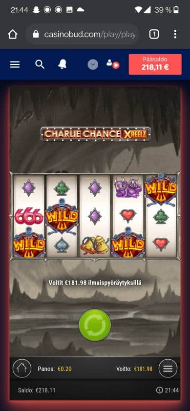Charlie Chance Xreelz Casino win picture by jube 10.6.2021 181.98e 910X CasinoBud
