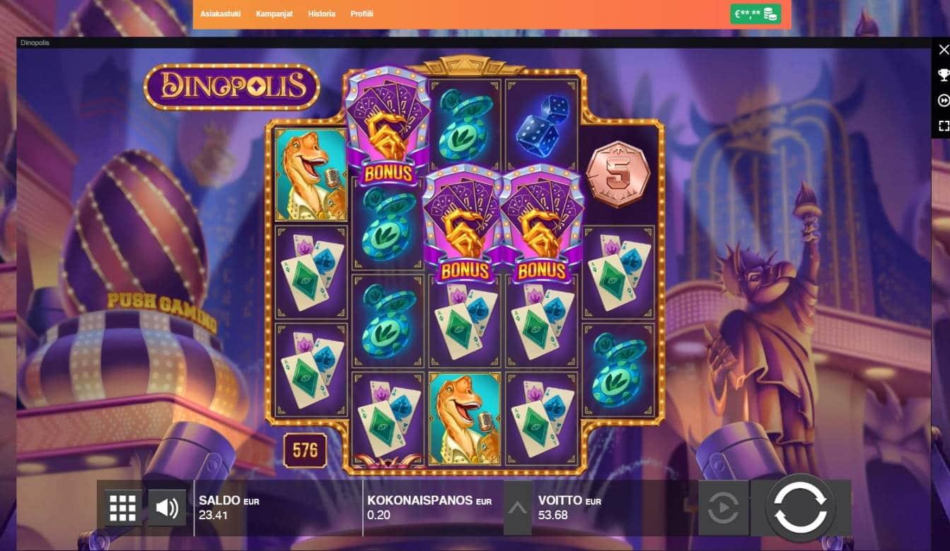 Dinopolis Casino win picture by Mrmork666 31.5.2021 53.68e 268X LeoVegas