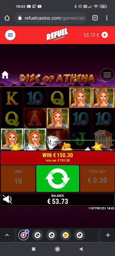 Disc of Athena Casino win picture by rossoneri82 14.6.2021 151.20e 504X Refuel