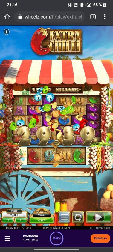 Extra Chilli Casino win picture by tiikerililja87 15.6.2021 921e 461X Wheelz