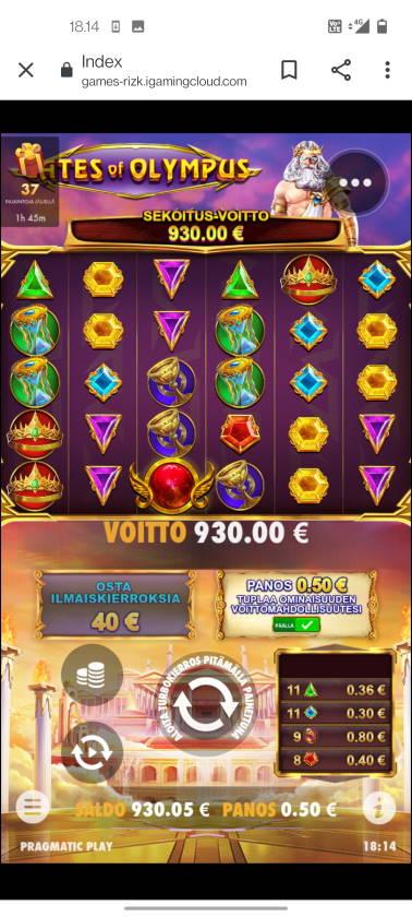 Gates of Olympus Casino win picture by terskanaattori 6.6.2021 930e 1860X Rizk