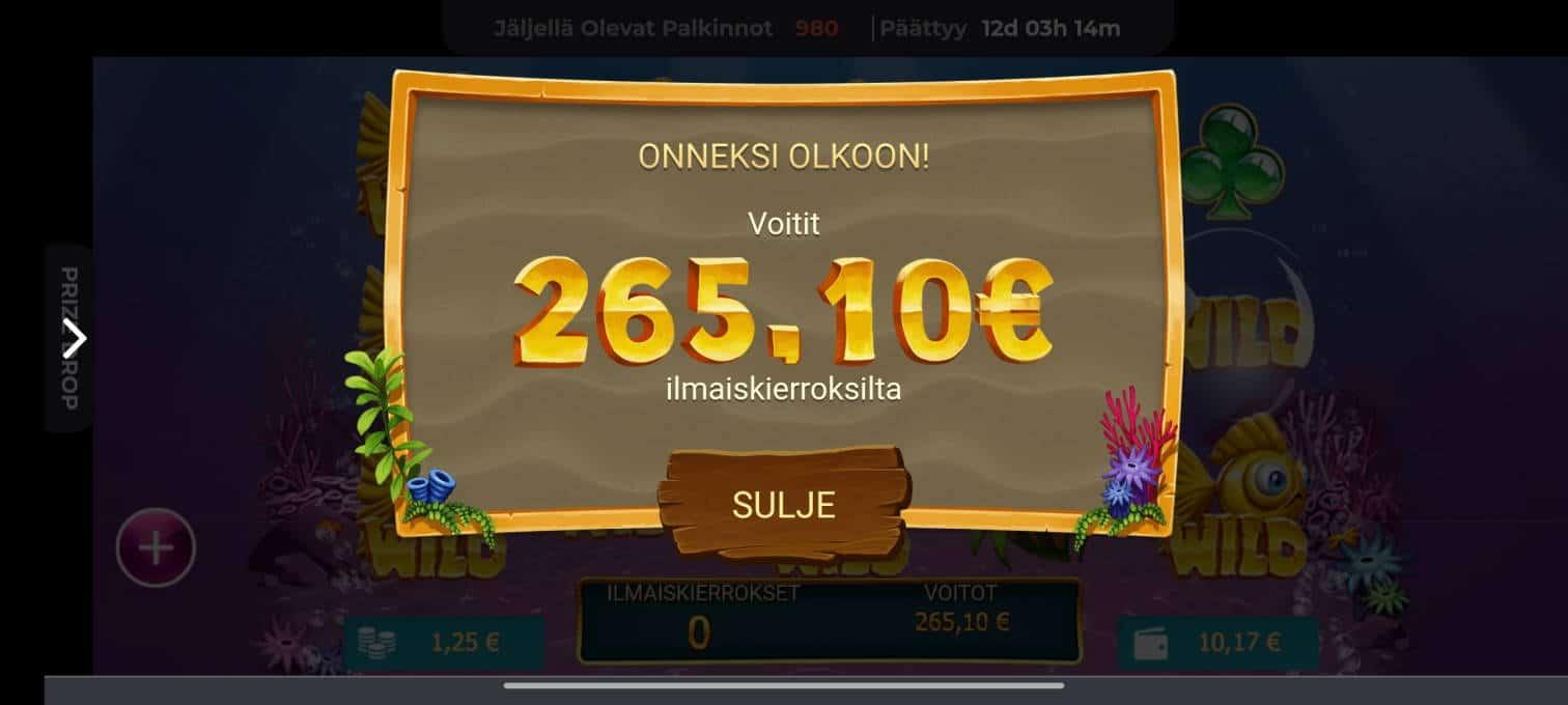 Golden Fish Tank Casino win picture by tiikerililja87 1.6.2021 265.10e 212X