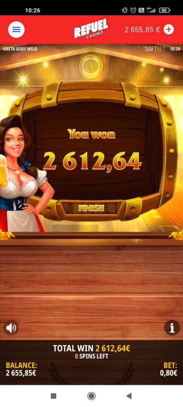 Greta Goes Wild Casino win picture by rossoneri82 14.6.2021 2612.64e 3266X Refuel