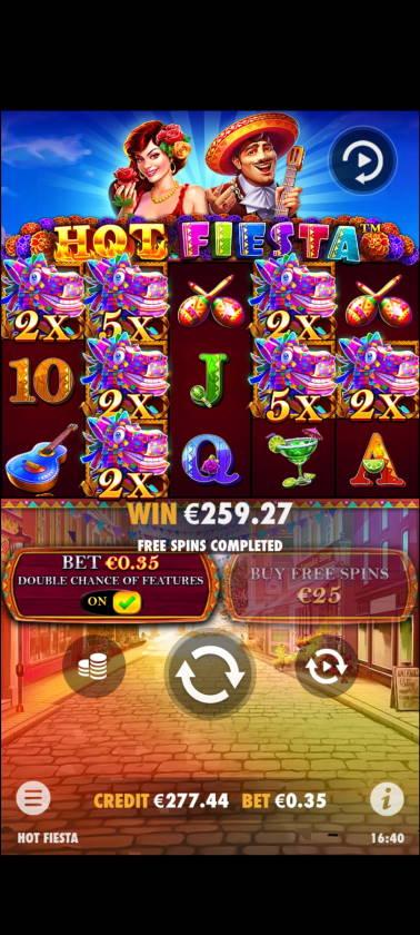 Hot Fiesta Casino win picture by rossoneri82 14.6.2021 259.27e 741X