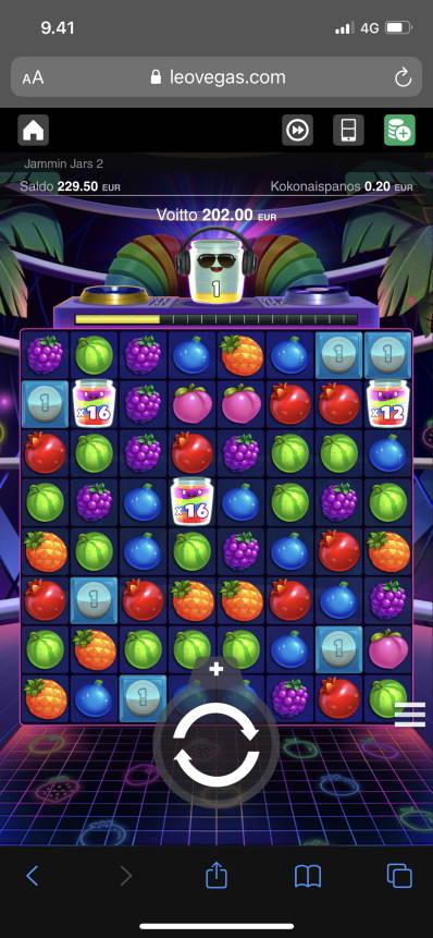 Jammin Jars 2 Casino win picture by Turboburo 10.6.2021 202e 1010X LeoVegas