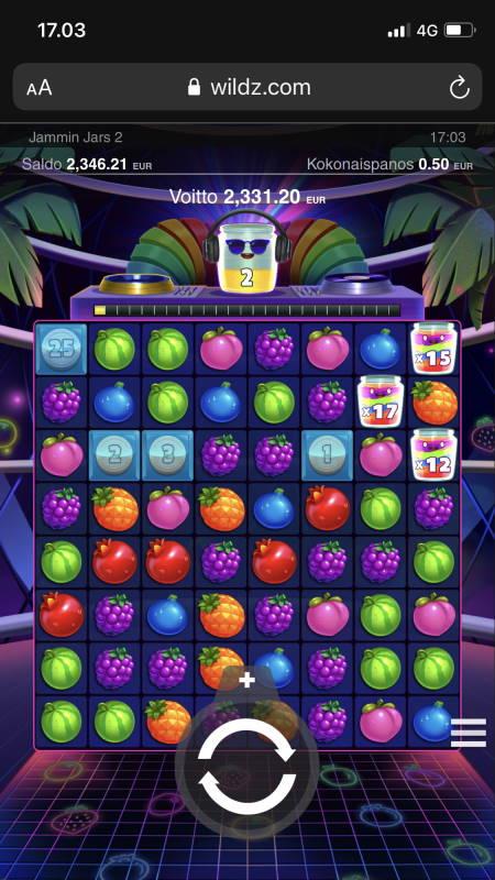 Jamming Jars 2 Casino win picture by jarkilll 10.6.2021 2331.20e 4662X Wildz