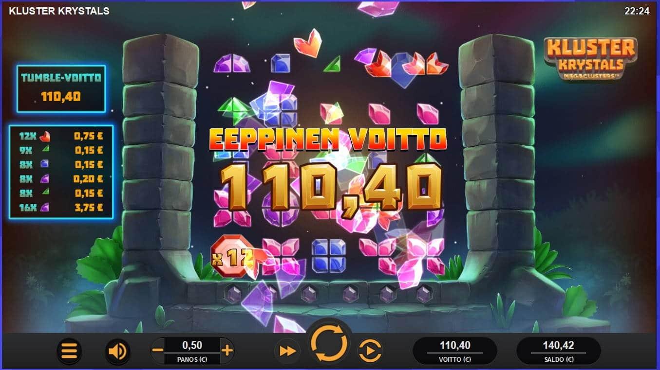 Kluster Krystals Casino win picture by Mrmork666 31.5.2021 110.40e 221X