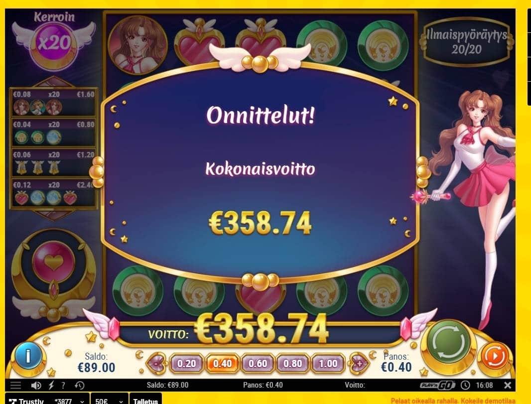 Moon Princess Casino win picture by Wilho 17.5.2021 358.74e 897X