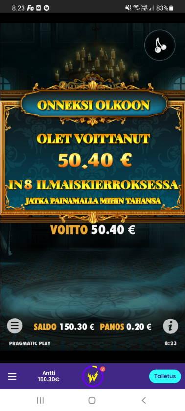 Mysterious Casino win picture by dj_niemi 16.6.2021 50.40e 252X Wildz