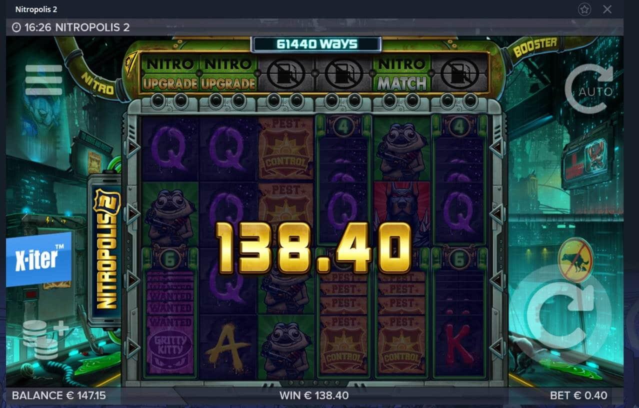 Nitropolis 2 Casino win picture by Mrmork666 31.5.2021 138.40e 346X