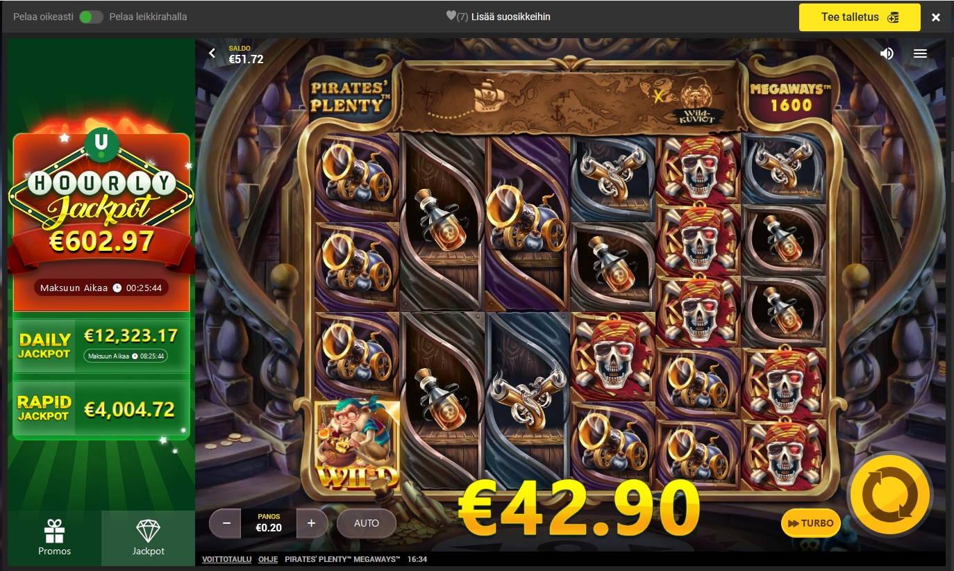 Pirates Plenty Megaways Casino win picture by Mrmork666 31.5.2021 42.90e 214X
