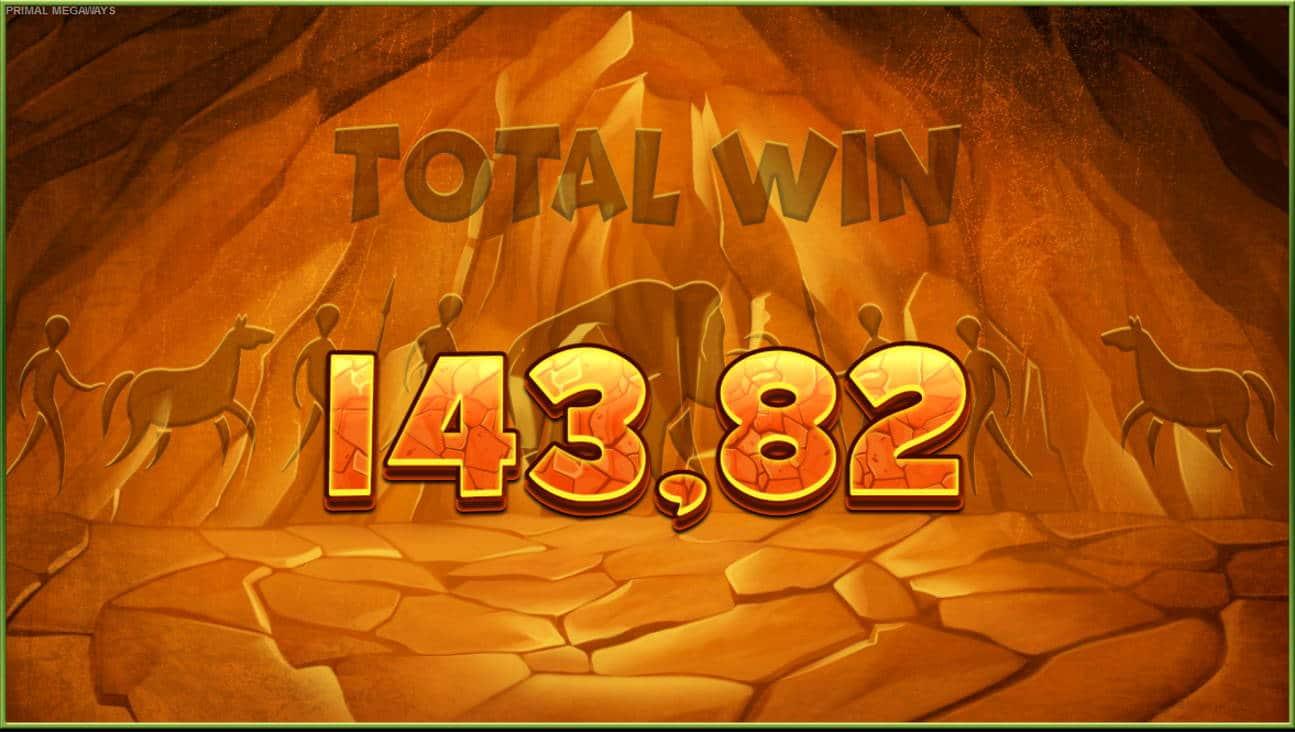 Primal Casino win picture by Kari Grandi 3.5.2021 143.82e 240X