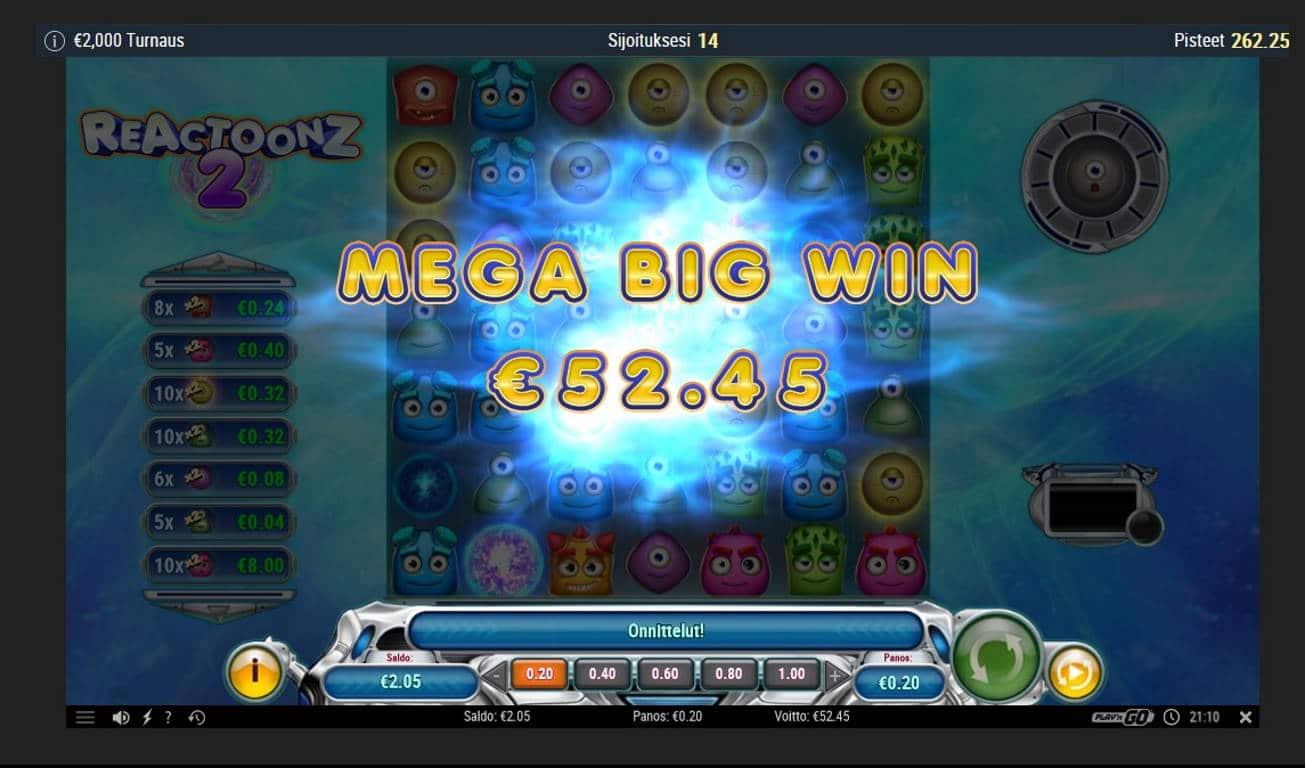Reactoonz 2 Casino win picture by Mrmork666 31.5.2021 52.45e 262X