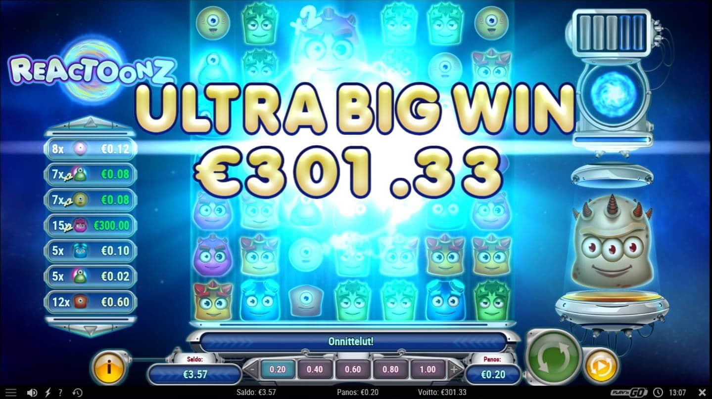 Reactoonz Casino win picture by Mrmork666 31.5.2021 301.33e 1506X Unibet