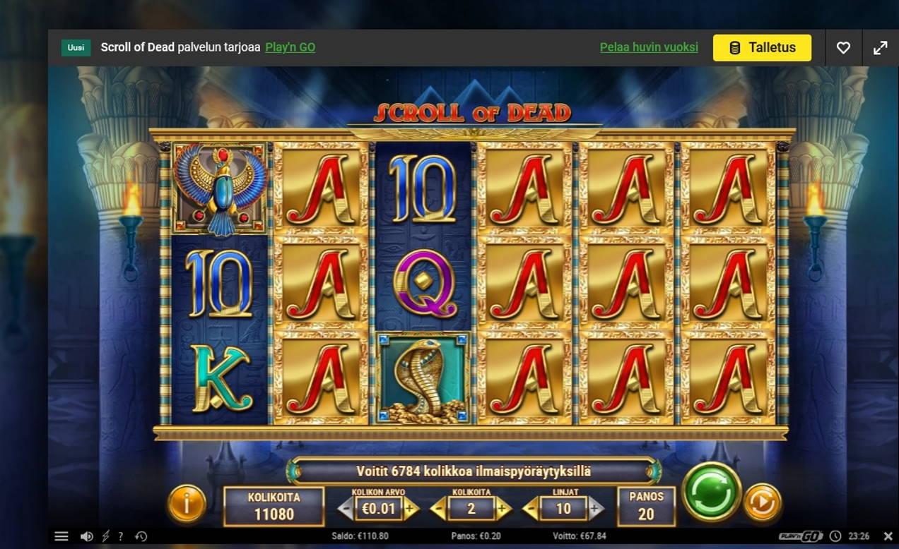 Scroll of Dead Casino win picture by Mrmork666 31.5.2021 67.84e 339X