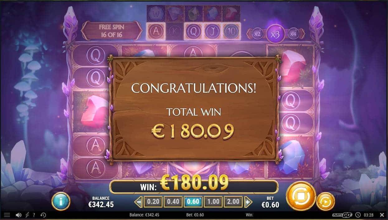 Shimmering Woods Casino win picture by Mrmork666 31.5.2021 180.09e 300X Mega Slot