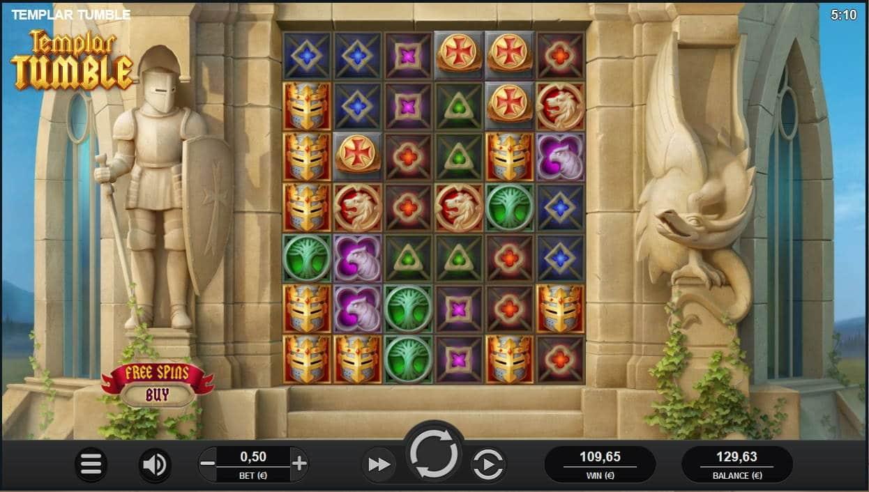 Templar Tumble Casino win picture by Mrmork666 31.5.2021 129.63e 219X Mega Slot