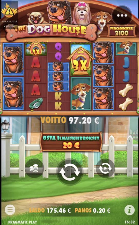 The Dog House Megaways Casino win picture by leif991 7.6.2021 97.20e 486X