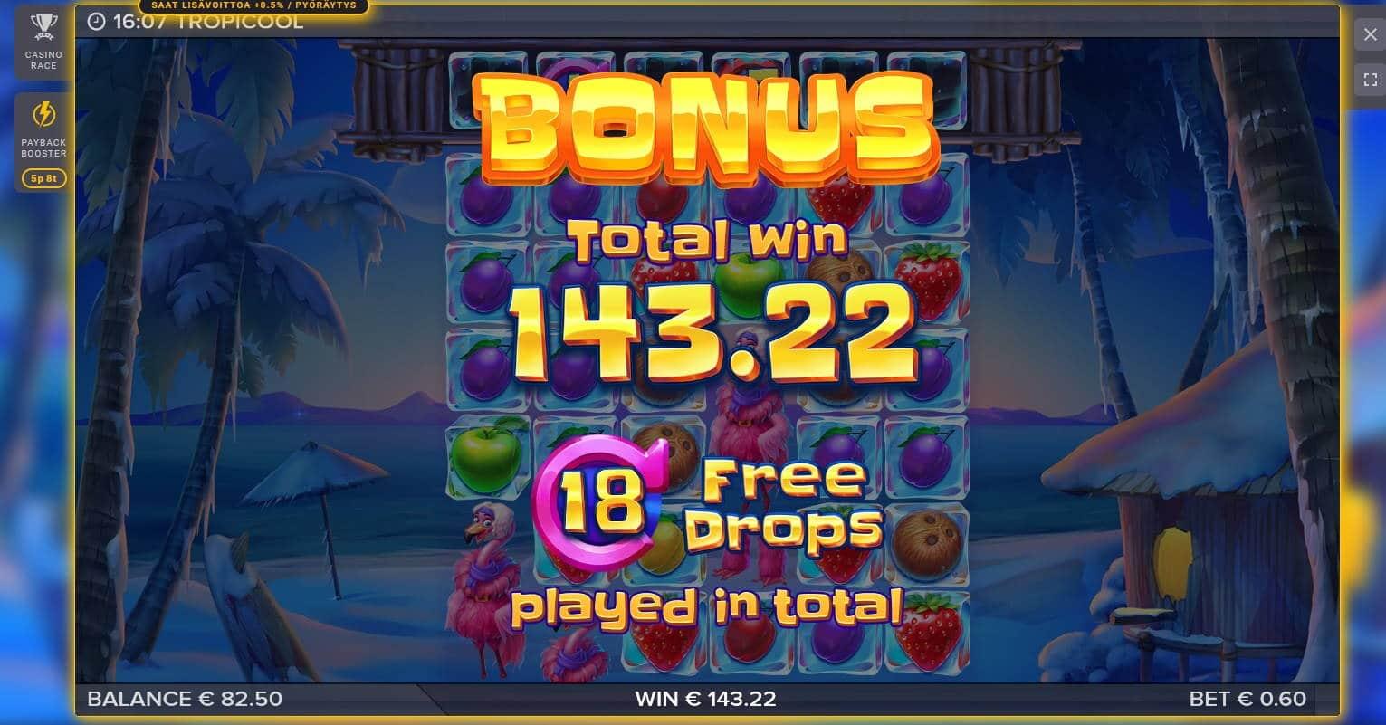 Tropicool Casino win picture by Mrmork666 31.5.2021 143.22e 239X