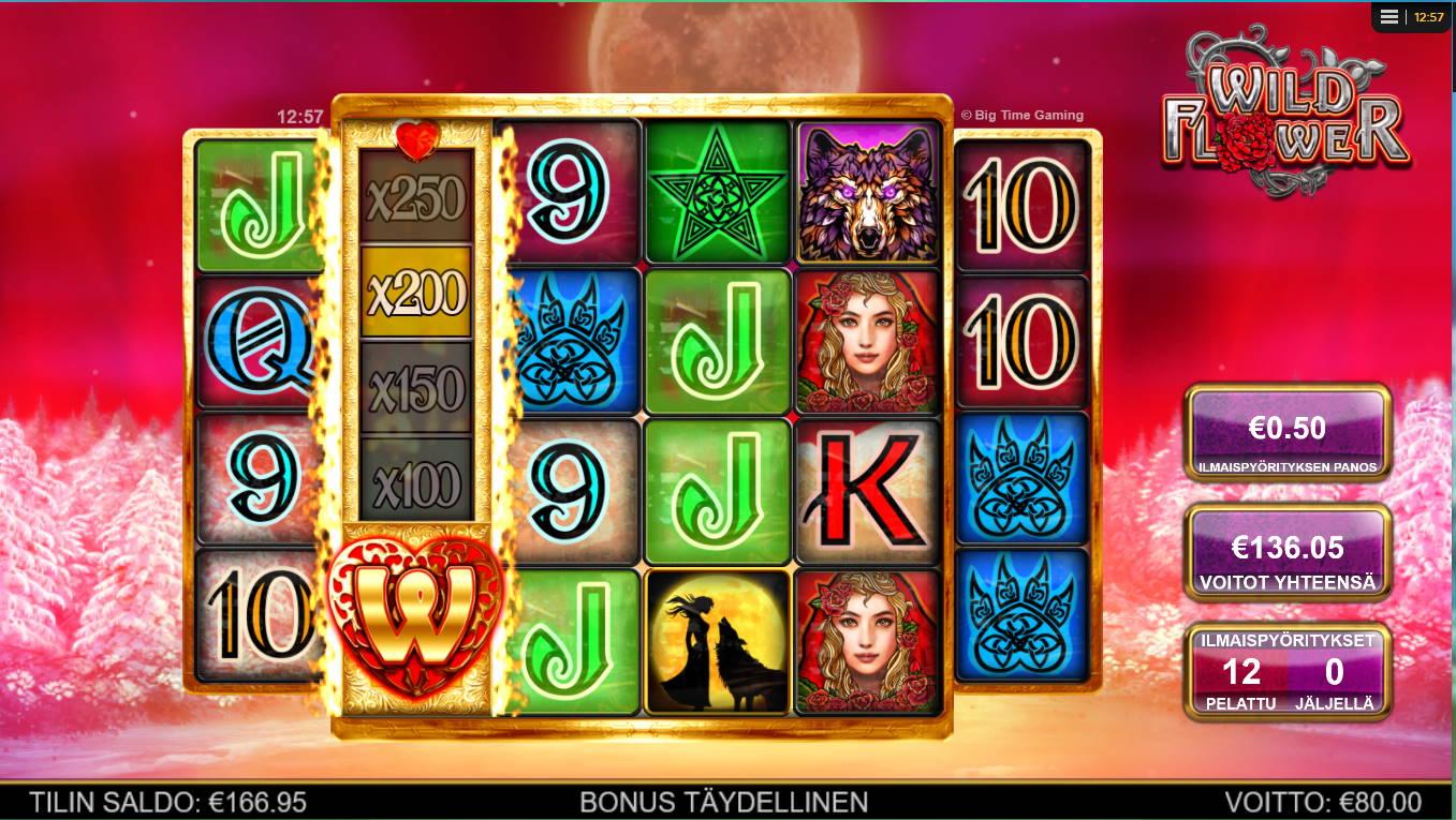 Wild Flower Casino win picture by Kari Grandi 30.4.2021 136.05e 272X