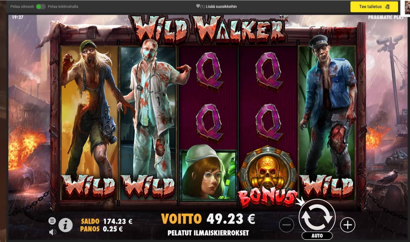 Wild Walker Casino win picture by Mrmork666 31.5.2021 49.23e 197X